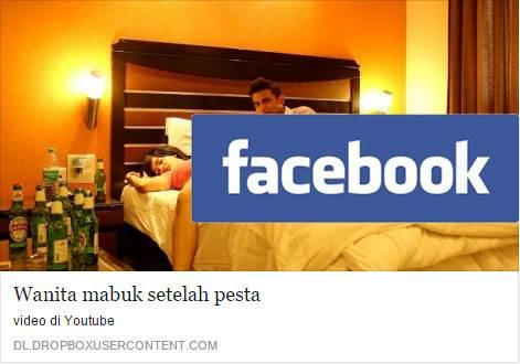 Facebook Malware - Gadis Mabuk Setelah Pesta